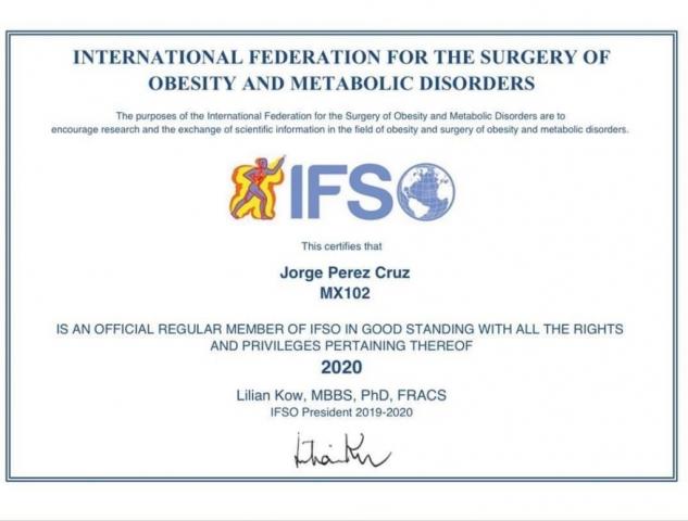Certificación IFSO