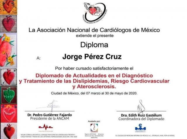Diploma - Asociación Nacional de Cardiólogos de México